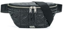 - Karl Lagerfeld - Studs quilted belt bag - women - Leather - Taglia Unica - di colore nero