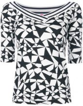 Marc Cain - Top di maglia - women - Cotton/Spandex/Elastane - 44 - BLACK