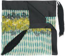 Forte Forte - Sciarpa con dettaglio nappina - women - Silk - OS - GREEN