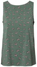 PIECES Printed Sleeveless Blouse Women Green