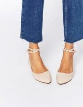 Daisy Street - Ballerine con cinturino alla caviglia e borchie color carne