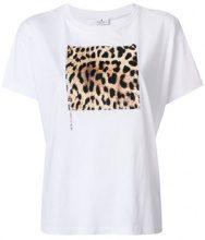 - Marcelo Burlon County Of Milan - T - shirt con pannello leopardato - women - cotone - XS - di colore bianco