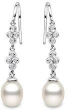 Kimura Pearls - Orecchini da donna, oro bianco 9k (375), cod. EN0087-301