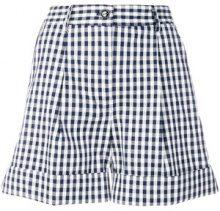 P.A.R.O.S.H. - Shorts a quadretti - women - Cotone/Polyurethane - M, XS - Blu