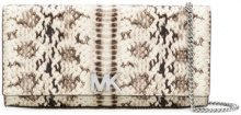 Michael Michael Kors - Clutch effetto serpente 'Mott' - women - Leather - OS - Color carne & neutri