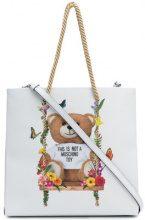 Moschino - medium Teddy shopper - women - Polyurethane - One Size - WHITE