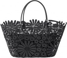 Borsa shopper con fiori (Nero) - bpc bonprix collection