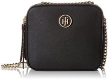Tommy Hilfiger Camera Bag Icon - Pochette da giorno Donna, Nero (Black), 7.5x16.5x14.5 cm (B x H x T)