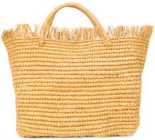 Sensi Studio - woven frayed hem tote - women - Straw - OS - NUDE & NEUTRALS