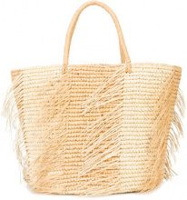 Sensi Studio - maxi frayed tote - women - Straw - OS - Color carne & neutri
