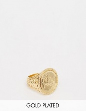 ASOS - Sovereign - Anello placcato oro