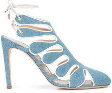 Chloe Gosselin - cut out denim sandals - women - Cotton - 36, 38, 38.5, 39, 40 - BLUE