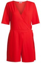 PIECES Short Sleeved Playsuit Women Red
