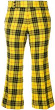 Comme Des Garçons Vintage - Pantaloni crop - women - Cupro/Wool - S - YELLOW & ORANGE