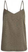 PIECES Patterned Sleeveless Top Women Green