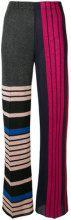 Circus Hotel - Pantaloni con pannelli a contrasto - women - Polyester/Viscose - 40, 42 - MULTICOLOUR