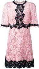 Dolce & Gabbana - lace dress - women - Silk/Cotton/Polyamide/Viscose - 36 - PINK & PURPLE