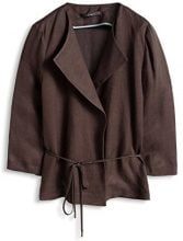 ESPRIT Collection - weicher Viskose-Leinen Mix, Giacca Donna, Marrone (DARK BROWN 200), 38 (Taglia Produttore: 38)