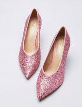 FIND Décolleté Glitterate Donna, Rosa (Pink), 36 EU