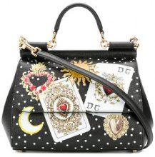 Dolce & Gabbana - Borsa tote 'Sicily' - women - Calf Leather/Leather - OS - Nero