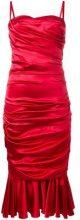 Dolce & Gabbana - ruched dress - women - Silk/Cotton/Polyamide/Spandex/Elastane - 40 - RED