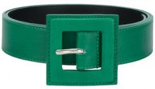 B-Low The Belt - Cintura con fibbia quadrata - women - Leather - S, M, L - GREEN