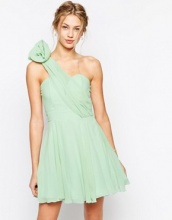TFNC - Prom dress monospalla con fiore applicato