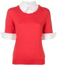 Mary Katrantzou - Blusa 'Ella' - women - Cotton/Spandex/Elastane/Wool - S - RED