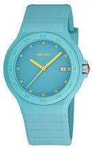 M-Watch WYO.15245.RD Orologio da Polso, Display Analogico, Unisex, Cinturino Silicone, Turchese