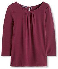ESPRIT Collection 996EO1K902, Maglia a Maniche Lunghe Donna, Rosso (Bordeaux Red), 36 (Taglia Produttore: Small)