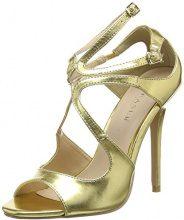 PleaserAmu15/b - Scarpe con Tacco Donna, Colore Oro (Gold Met Pu), 44 EU(11 UK)