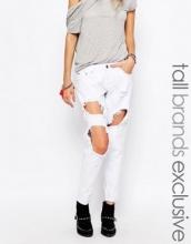 Liquor & Poker Tall - Jeans skinny con effetto invecchiato accentuato e strappi alle ginocchia