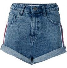 One Teaspoon - Shorts con vita alta - women - Cotone - 25, 26, 28, 27 - Blu
