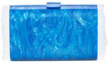 Edie Parker - Clutch 'Lara Solid' - women - Acrylic - OS - BLUE