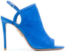 Aquazzura - open toe sandals - women - Calf Suede/Leather - 37, 37.5, 39, 39.5 - BLUE