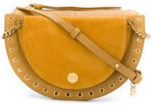See By Chloé - Borsa a spalla media Kriss - women - Cotton/Calf Leather - One Size - YELLOW & ORANGE