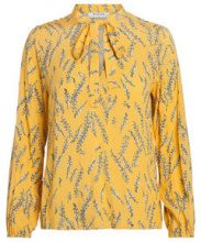 PIECES Patterned Longsleeved Blouse Women Yellow