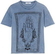 FIND S17AM802 magliette donna, Blu (Blue), 44 (Taglia Produttore: Medium)