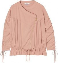 FIND Ruched Sleeve  Giacca Donna, Rosa (Pink), 40 (Taglia Produttore: X-Small)