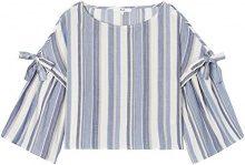 FIND Blusa a Righe Donna, Blu (Blue Stripe), 40 (Taglia Produttore: X-Small)