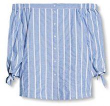 edc by Esprit 037cc1f015, Camicia Donna, Blu (Pastel Blue), 40 (Taglia Produttore: Large)