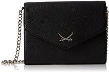 Sansibar Clutch Bag - Pochette da giorno Donna, Schwarz (Black), 18x14x5 cm (B x H T)