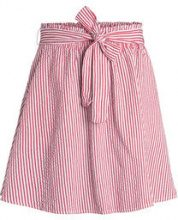 PIECES Striped High Waist Skirt Women White