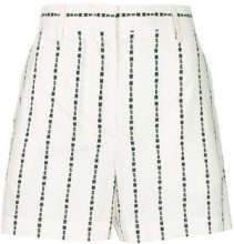 MSGM - Pantaloni corti con logo - women - Cotton - 40, 38, 42 - WHITE