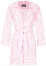 Boutique Moschino - floral pattern jacket - women - Polyamide/Cotton/Acetate/Cupro - 36, 44 - PINK & PURPLE
