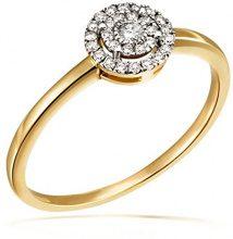 Goldmaid Anello, Oro Giallo 585, con Diamante, Misura 56 (17.8)
