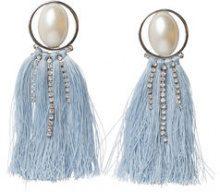 PIECES Detailed Earrings Women Silver