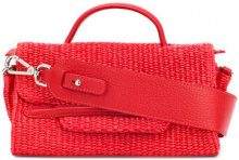 Zanellato - Borsa Tote - women - Leather/Straw - One Size - RED