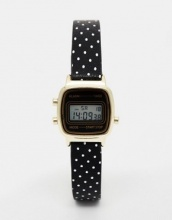 ASOS Mini Digital Watch on Polka Dot Strap