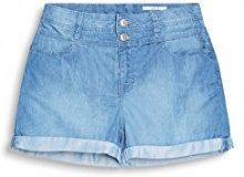 edc by Esprit 047cc1c009, Shorts Donna, Blu (Blue Medium Wash), W26 (Taglia Produttore: 26)